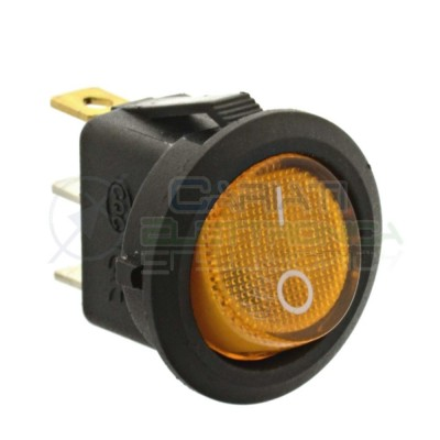 copy of Interruttore a Bilanciere Con Led Giallo Ambra 20A 12V SPST da Pannello