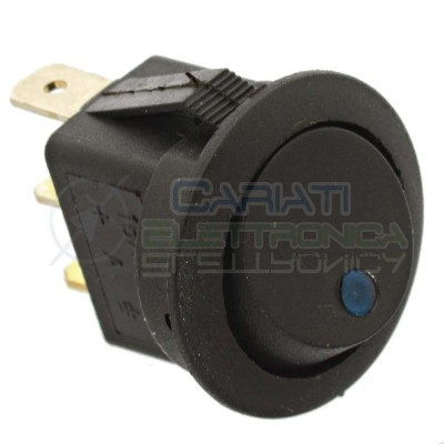copy of Interruttore a Bilanciere Nero Con Led Blu 16A 12V SPST da pannello