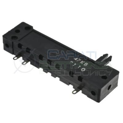 Potenziometro a slitta 47K mono lineare 70mm 47kohm slide Mixer Audio 3 Pin Cosocomi