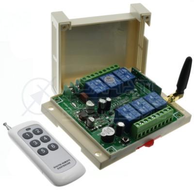 Scheda Ricevente Ricevitore 12V 24V 433 Mhz 6 Relè Canali con Telecomando