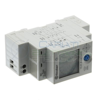 Finder Programmable time switch Spdt 250VAC 16A Nfc 12.51.8.230 12518230Finder
