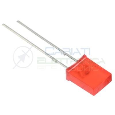 10 Pezzi Led rettangolare rettangolari 110° 2x5x7mm colore Rosso Flat Top