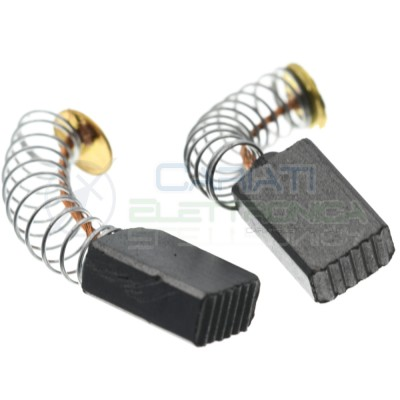 2 Pcs Universal Motor Carbon Brushes 5x8x13 mm for motor Power ElectricalGenerico