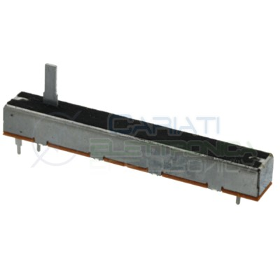 Potenziometer slide stereo 88mm 100kohm 100k B100K Mixer Audio length track 79mmCosocomi