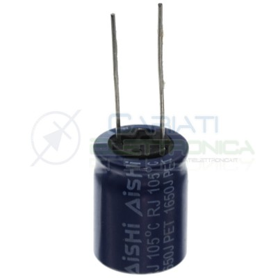 Capacitor 560uF 63V electrolytic 105° 16x20 mm Pitch connector 7,5mmAishi