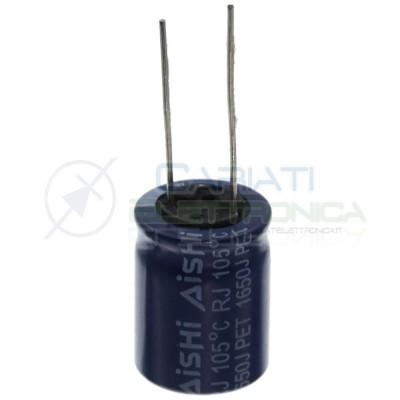 Condensatore 560uF 63V elettrolitico 105° 16x20 mm Passo 7,5mm Aishi