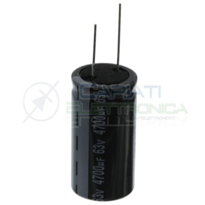 Capacitor 4700uF 63V electrolytic 85° 25x50mm pitch 12,5mm JamiconJamicon