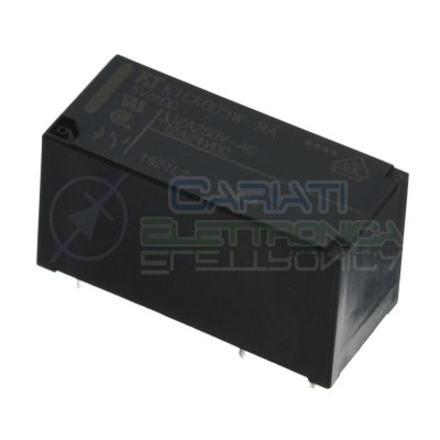 FTR K1CK005W-MA Relè con bobina 5V Spdt Singolo scambio 12A 250V 5 Pin Fujitsu