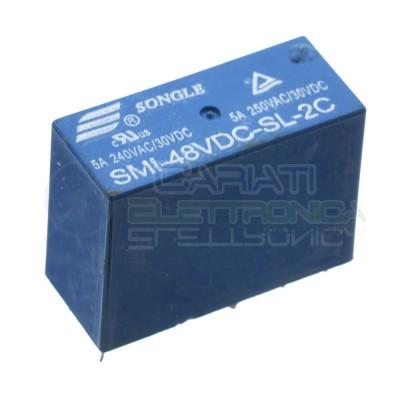 SMI-48VDC-SL-2C Relay voltage coil 48V Dpdt 5A 250V 8 pinsSongle