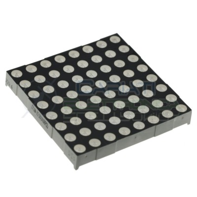 8X8 Led matrix red size 60x60mm 64 Dots 1,8V model 2088B 24pins