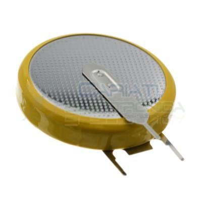 CR2032 Batteria 3V 200mah a saldare pila a bottone in litio verticale Extracell Extracell