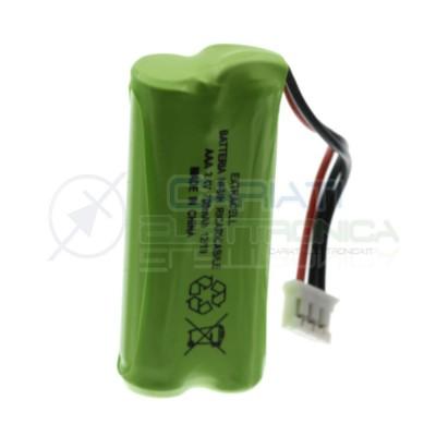 Pacco Batteria 2,4V 700mah per Telefono cordless ricaricabile NiMh 3 fili Extracell