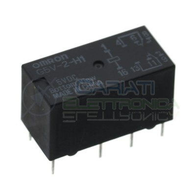 Omron G5V-2-H1 5Vdc Relay coil 5V Dpdt 1A 8 pinsOmron