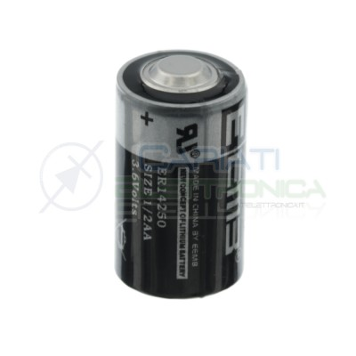 LS14250 ER14250 Batteria 3,6V litio 1/2 AA mezza torcia stilo 1200mAh Li-SoCl2 EEmb Battery