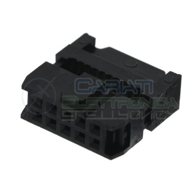 2 pezzi Connettore Socket Idc per cavo Flat Femmina 10 Poli 2 Linee