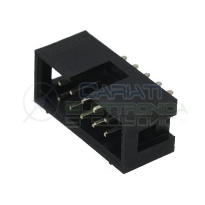 2 pezzi Connettore Socket Idc per cavo Flat Maschio 10 Poli 2 Linee