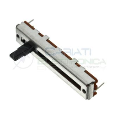 Potenziometro a slitta 100K mono lineare 45mm B100k slide 100kohm Mixer Audio Generico