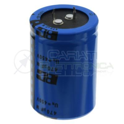 470uF 450V Condensatore Elelettrolitico Snap-In 35x50mm 105° passo 10mm Vishay Vishay