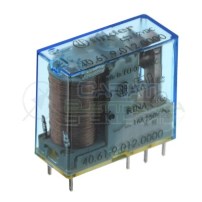 Relay 40.61.9.012.0000 Voltage coil 12V Spdt 16A 250Vac 30Vdc FinderFinder
