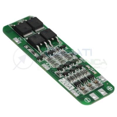 Bms Pcm 3S Per batterie 18650 12,6V 20A Circuito di protezione per 3 batterie 18650 Litio Generico