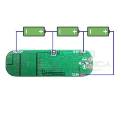 Bms Pcm 3S Per batterie 18650 12,6V 20A Circuito di protezione per 3 batterie 18650 Litio