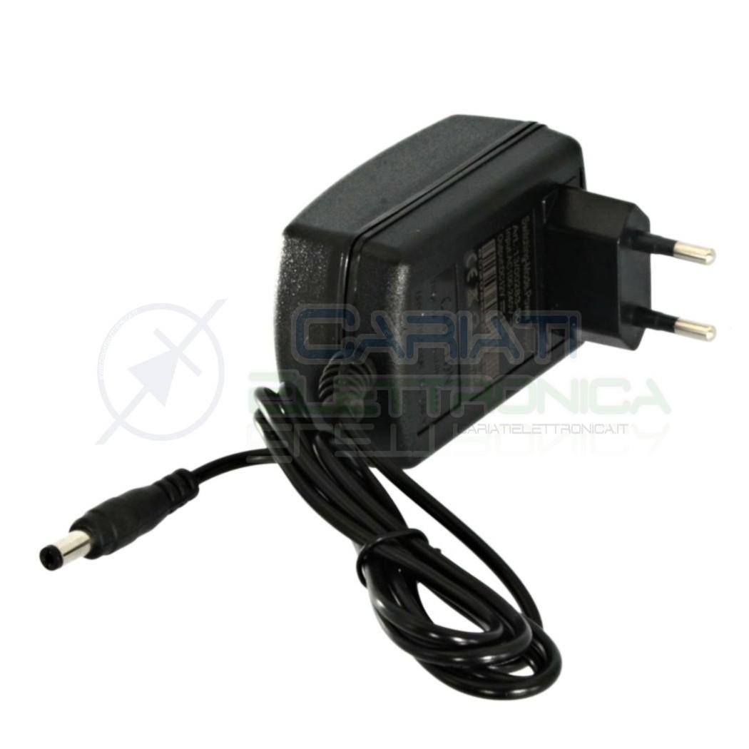 Alimentatore 12V 2A 24W Telecamere Led Trasformatore con connettore Dc 2,1/5,5