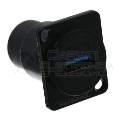 Plug Usb 3.0 Type A Adapter connector socket mounting panel