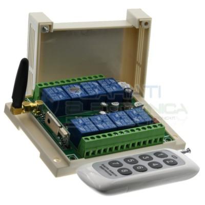 copy of Scheda Ricevente Ricevitore 12V 433 Mhz 6 Relè Canali con Telecomando