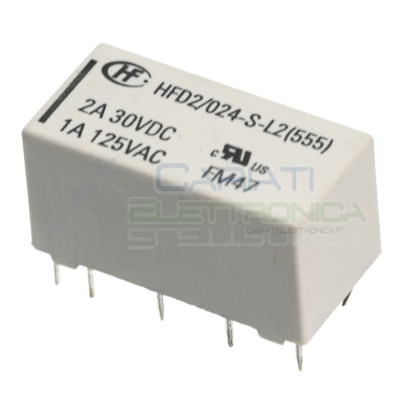 Relay HDF2/024-S-L2 latching volate goil 24V Dpdt 2A 30Vdc 1A 125VacHONGFA RELAY