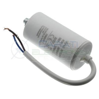 Condensatore per motori 8uF 450V con cavo Capacitore Motore Pompa Elettropompa Generico