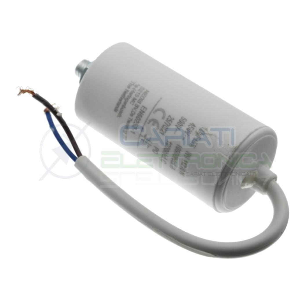 Condensatore per motori 8uF 450V con cavo Capacitore Motore Pompa Elettropompa