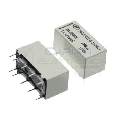 Relay HFD2/012-S-L2 latching volate goil 12V Dpdt 2A 30Vdc 1A 125VacHONGFA RELAY