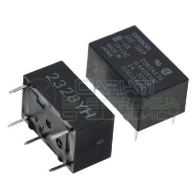 Relè G6E-134P-US 24V Dc SPDT 2A 30V 0.4A 125V singolo 1 scambio Omron Omron