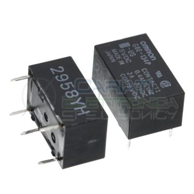 Relay G6E-134P-US Coil Voltage 5V Dc SPDT 2A 30V 0.4A 125V OmronOmron