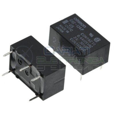Relay G6E-134P-US Coil Voltage 12V Dc SPDT 2A 30V 0.4A 125V OmronOmron