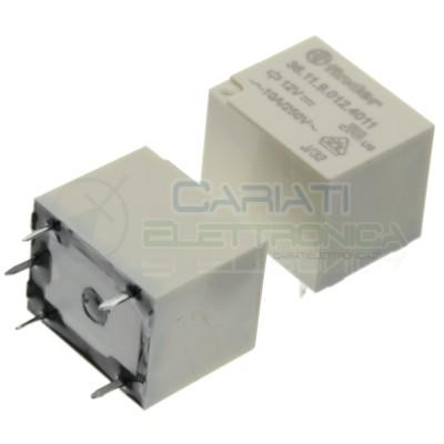 Relè 36.11.9.012.4011 bobina 12V DC SPDT 10A 30Vdc 250Vac 5 pin Finder Finder