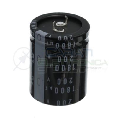 1800uF 200V Condensatore Elelettrolitico Snap-In 35x45mm 105° passo 10mm Nichicon Nichicon