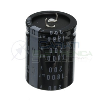1800uF 200V Electrolytic Capacitor Snap-In 35x45mm 105° pin pitch 10mm VishayNichicon