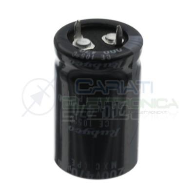 470uF 200V Condensatore Elelettrolitico Snap-In 22x35mm 105° passo 10mm Nichicon Rubycon