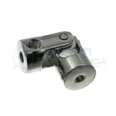 Coupler shaft 3x4mm flexible in aluminium for motor