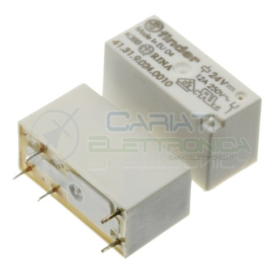 Relay 41.31.9.024.0010 voltage coil 24V DC SPDT 12A 30Vdc 250Vac 5 pin FinderFinder