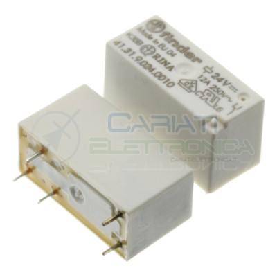 Relè 41.31.9.024.0010 bobina 24V DC SPDT 12A 30Vdc 250Vac 5 pin Finder Finder