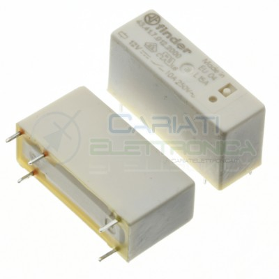 Relay 43.41.7.012.2000 voltage coil 12V DC SPDT 10A 30Vdc 250Vac 5 pin FinderFinder