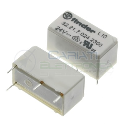 Relay 32.21.7.024.2300 voltage coil 24V DC SPST 6A 30Vdc 250Vac 4 pin FinderFinder