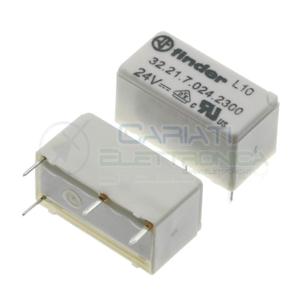 Relè 32.21.7.024.2300 bobina 24V DC SPST 6A 30Vdc 250Vac 4 pin Finder Finder