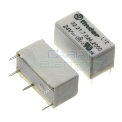 Relè 32.21.7.024.2000 bobina 24V DC SPST 6A 30Vdc 250Vac 4 pin Finder Finder