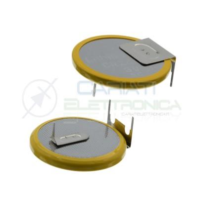 CR2430 Batteria 3V 270mah a saldare pila a bottone in litio 3 Pin Extracell Extracell