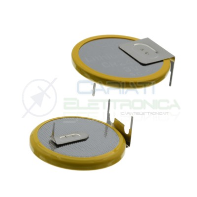 CR2032 Battery 3V 200mah Lithium with soldering pins Button Coin CellExtracell