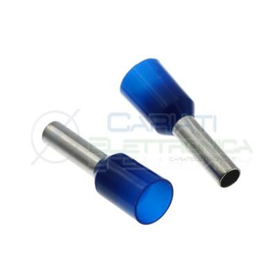 50 pezzi Puntalino a Bussola Preisolato Blu per Cavo 2,5 mmq Tubetto Cembre