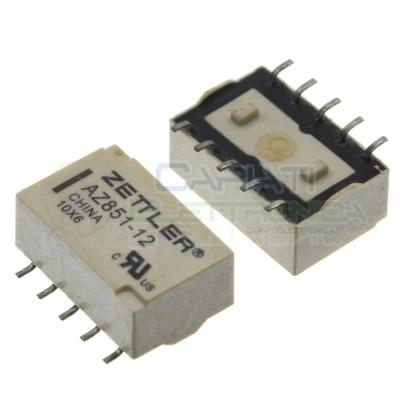 Relay AZ851-12 Voltage coil12V DPDT 1A 30Vdc 0,5A 125Vac 10 pin ZettlerZettler
